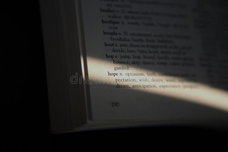 Download Word Hope stock image. Image of reading, knowledge, belief - 10052235