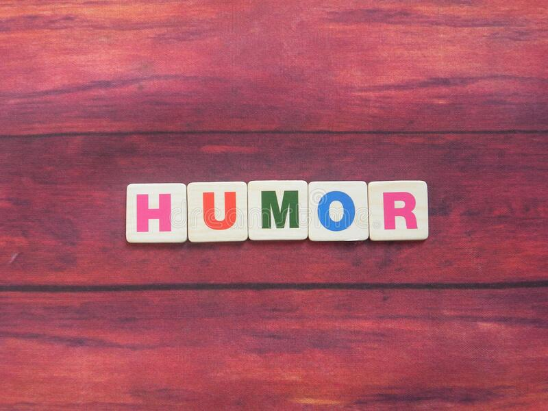Word Humor on wood. Background royalty free stock photos