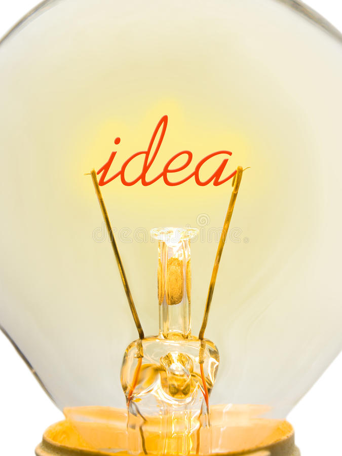 Download Word Idea in lamp stock image. Image of innovation, glass - 23105071