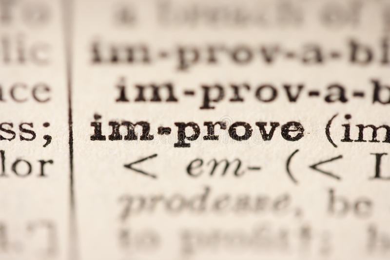 Word improve royalty free stock photos