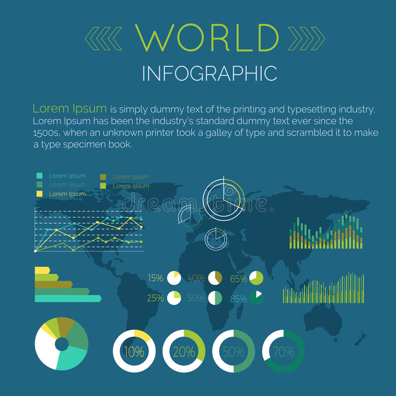 Word Infographic Flat Design Vector Illustration vector illustration