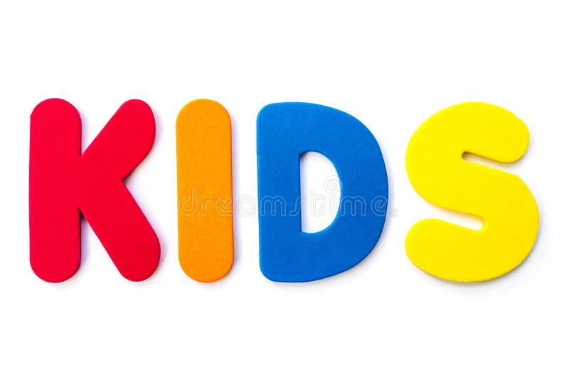 Happy Kids ! - Word Sign For School Children. Stock Photo ...
