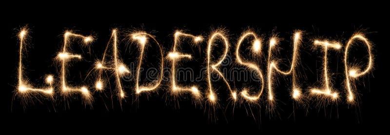 Word leadership written sparkler stock images