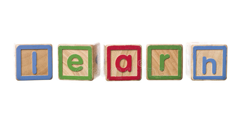Download The Word Learn Built By Play Blocks Stock Image - Image: 11414615