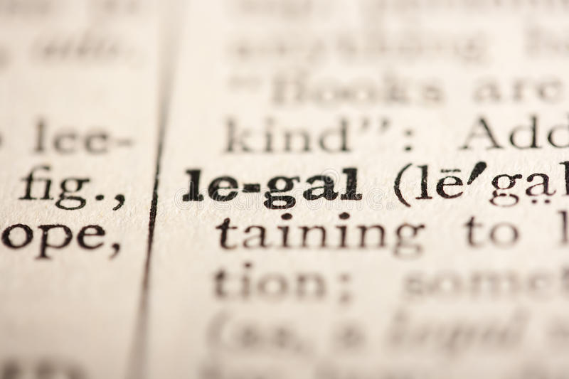 Word legal stock photo