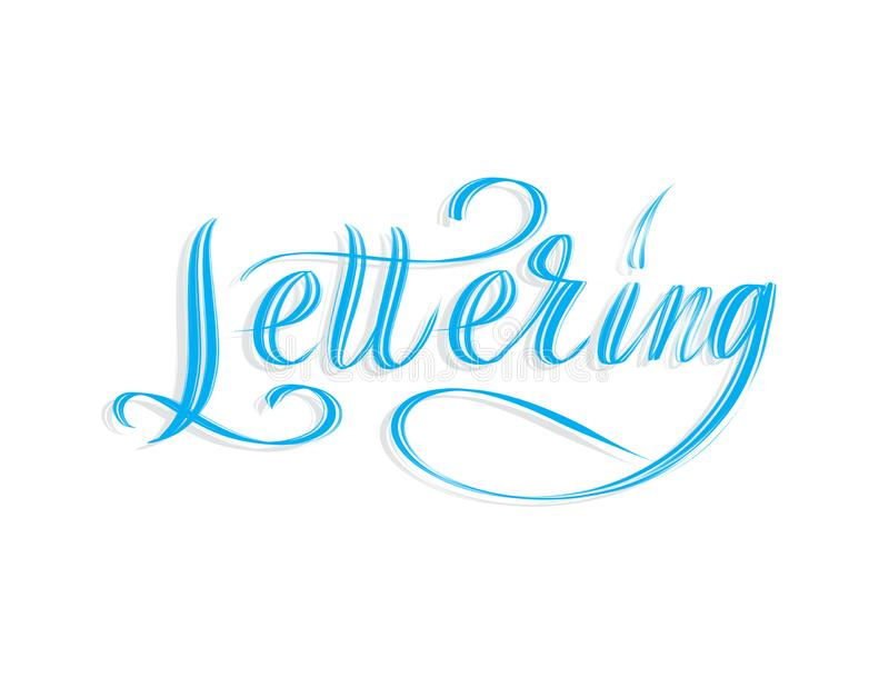 The word Lettering written in script. The word Lettering written in script isolated on white background vector illustration