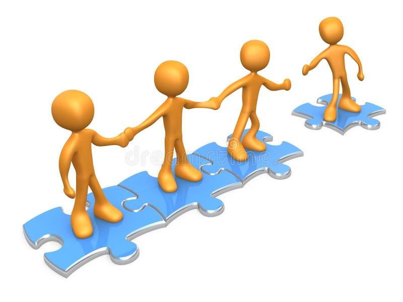 Word lid van Ons Team vector illustratie