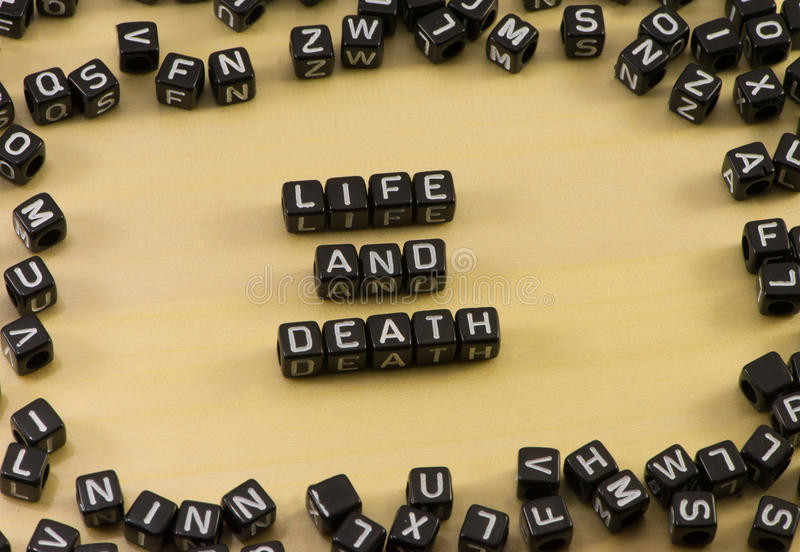 The word life and death royalty free stock images