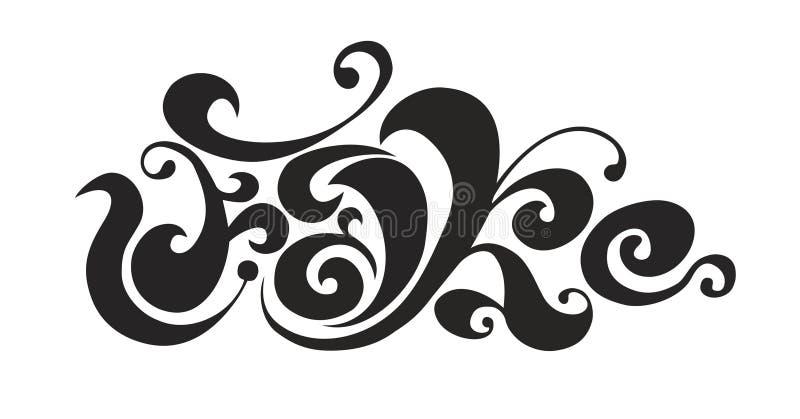 Word logo fake tatoo royalty free illustration