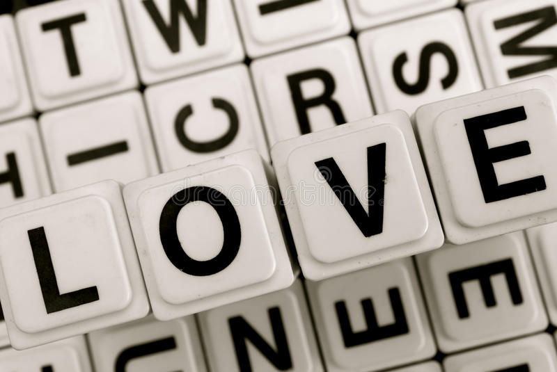 The word love stock photo