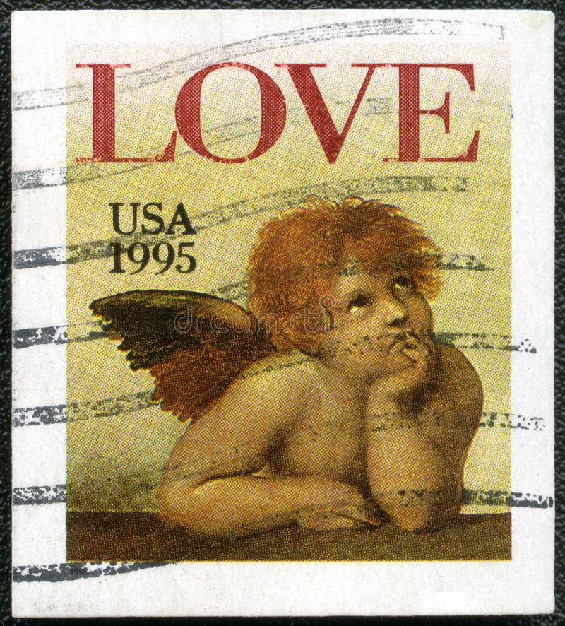Download Word Love And Cherub From Sistine Madonna Stock Illustration - Illustration of hobby, american: 25640432
