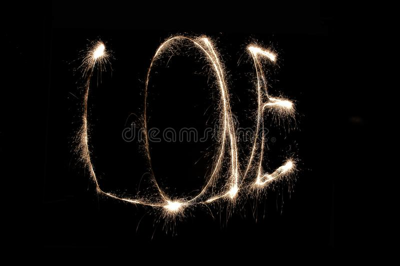 Word love made of fire stock photos