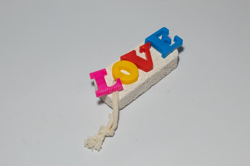 The word `love` is the most important thing. The word `love` is the most important thing , Use for backgroud stock image