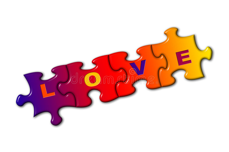 Download Word Love on puzzle stock illustration. Image of closeup - 1891266