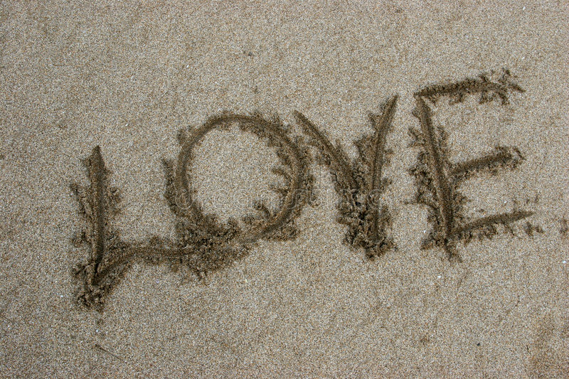 Download Word love on sand stock photo. Image of emotion, sentimental - 842950