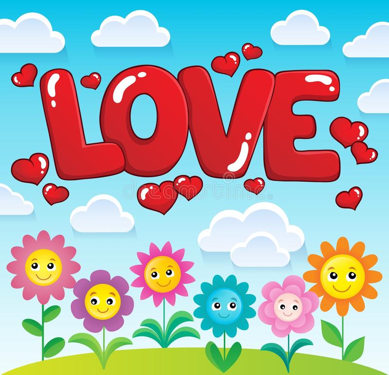 Word love theme image 2. Eps10 vector illustration royalty free illustration