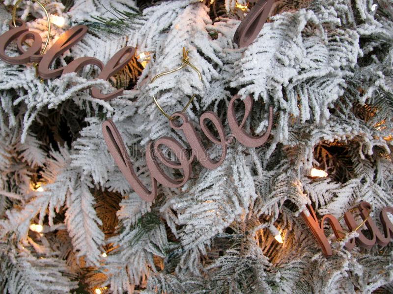 Word Love wooden cutout decoration stock photo