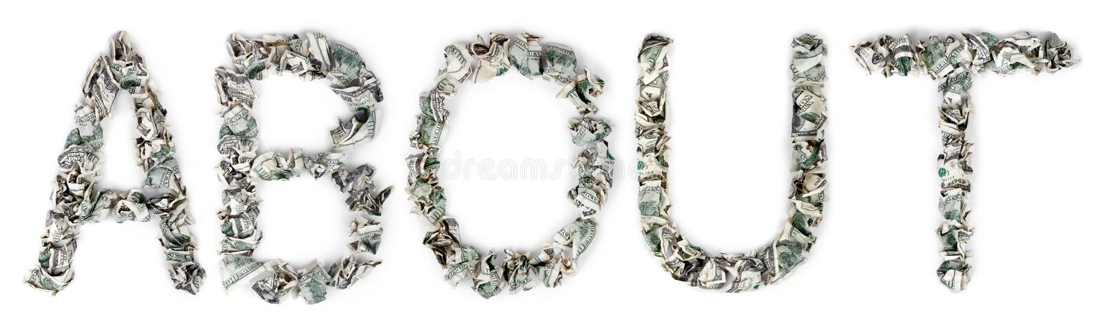 Download About - Crimped 100$ Bills Stock Image - Image: 29763061