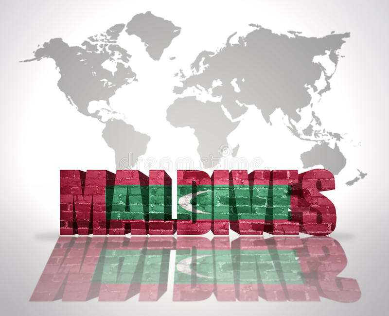 Word Maldives On A World Map Background Stock Illustration - Where is the maldives on the world map