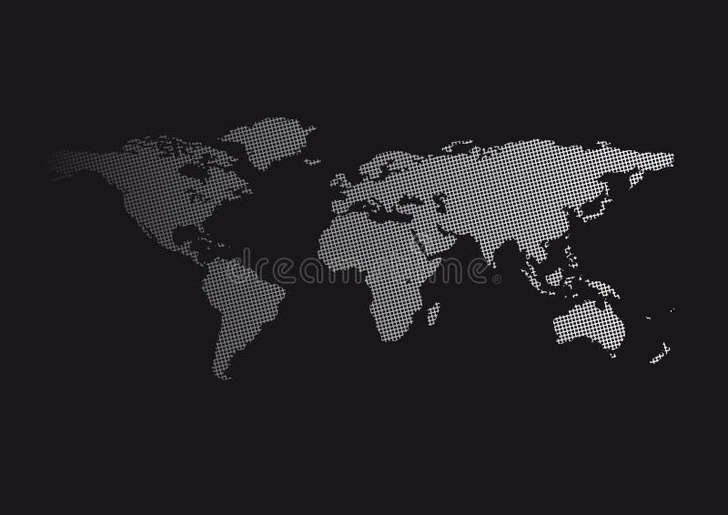 World Map Carbon vector illustration
