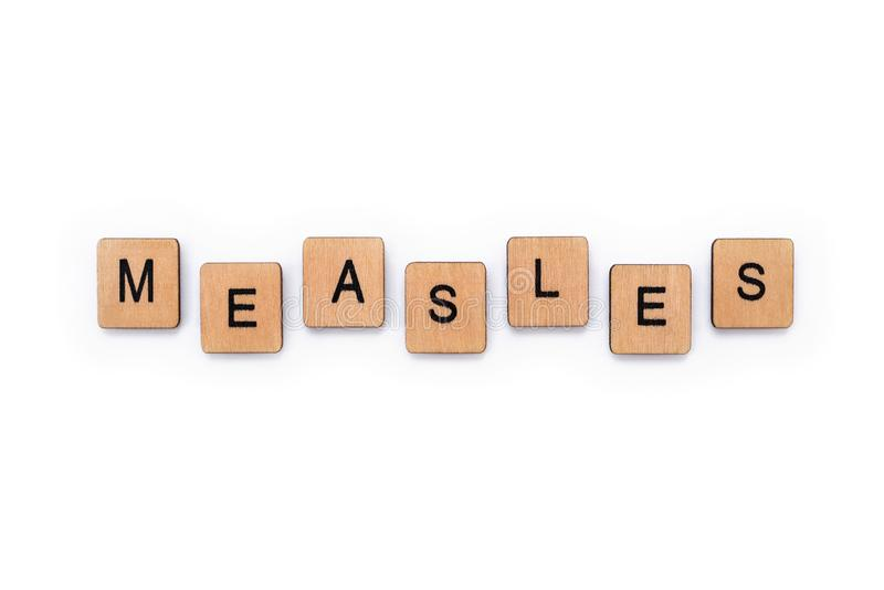 The word MEASLES stock photography