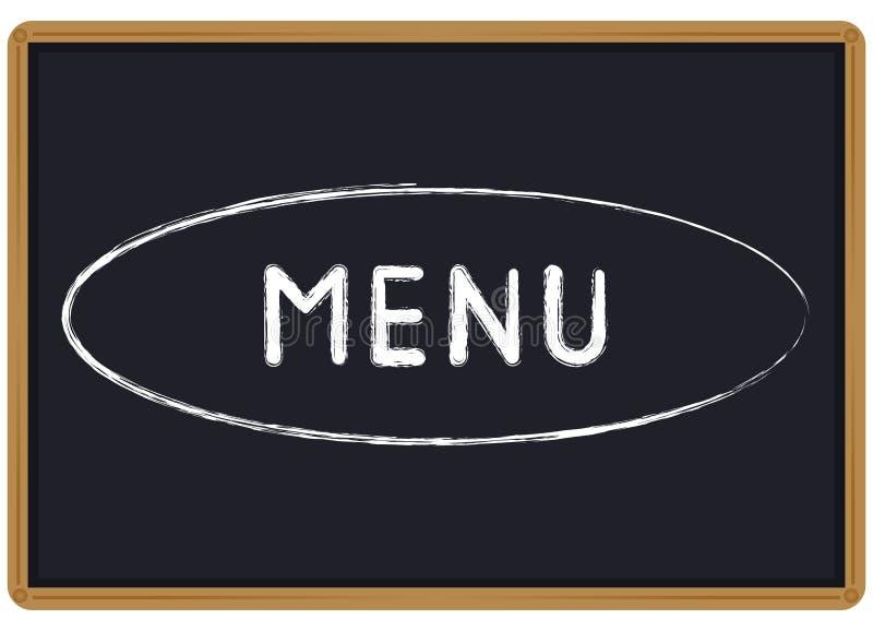 Word Menukrijt op een bord wordt geschreven dat royalty-vrije illustratie