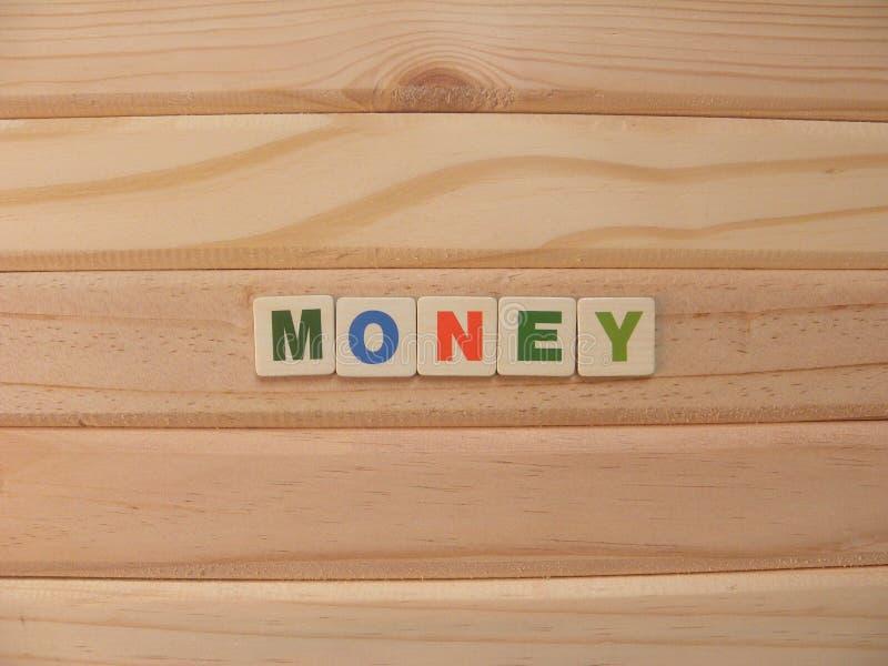 Word Money on wood stock image