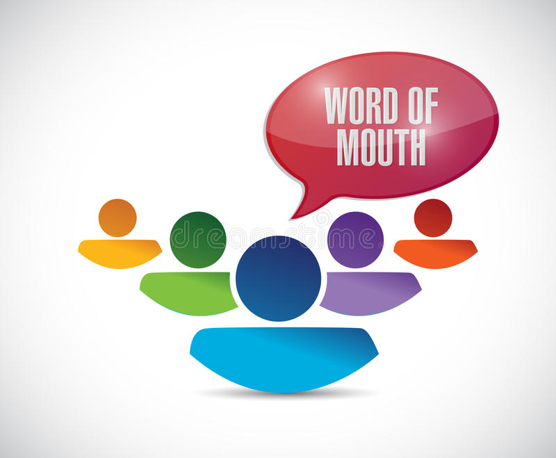 Word of mouth team message illustration stock illustration