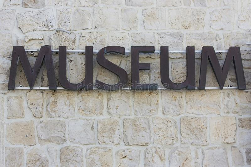 The word musem stock photography