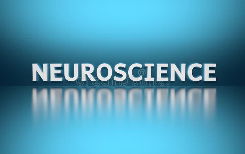 Word Neurologie op blauwe achtergrond royalty-vrije illustratie