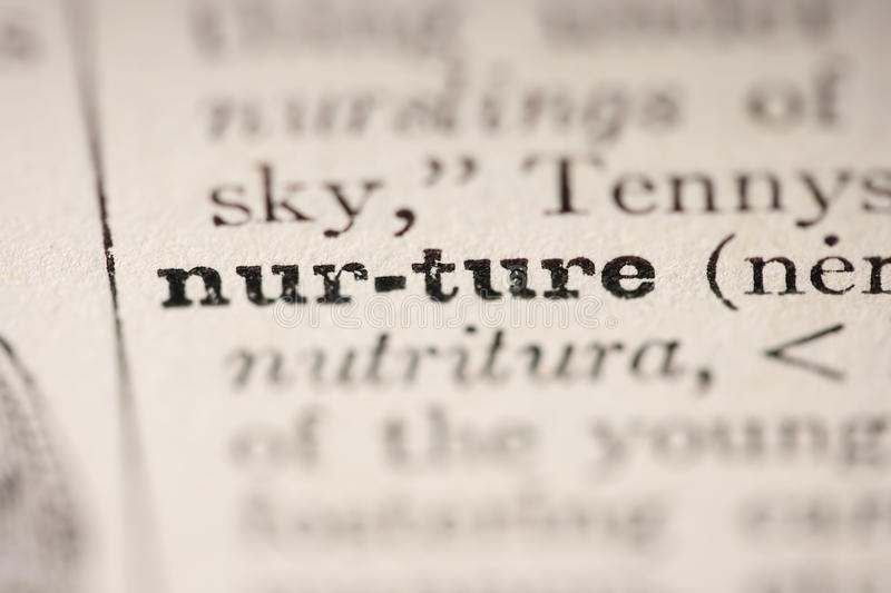 Word nurture stock photos