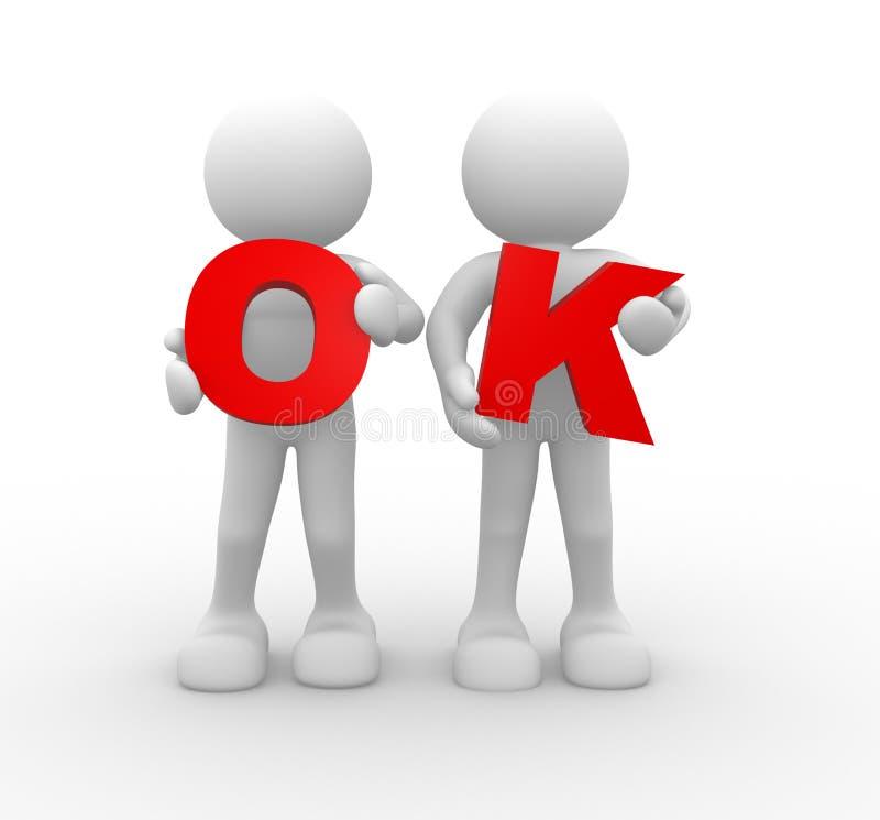 Word'OK vektor illustrationer