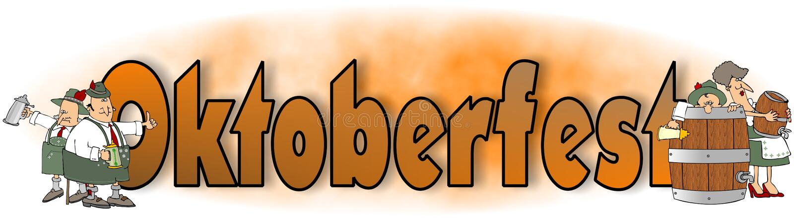 The word Oktoberfest with Bavarian characters vector illustration