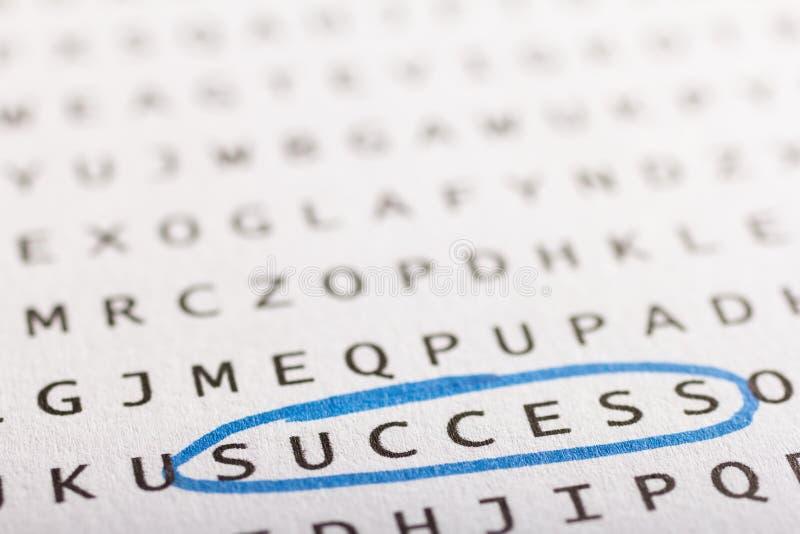 Word onderzoek, raadsel Concept over het vinden, succes, zaken stock afbeelding