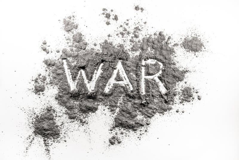 Word oorlog in as wordt geschreven die royalty-vrije stock afbeelding