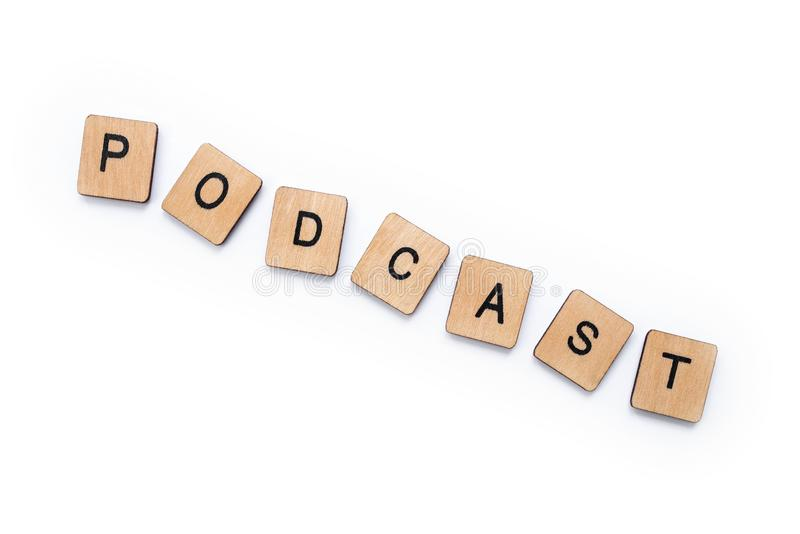 The word PODCAST royalty free stock photo