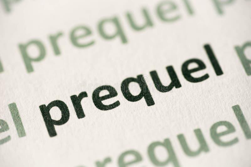 Word prequel op document macro wordt gedrukt die royalty-vrije stock afbeelding