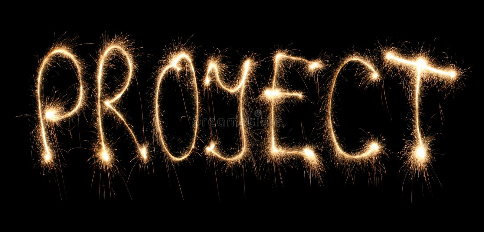 Download Word Project Written Sparkler Stock Image - Image of bright, abstract: 8667513