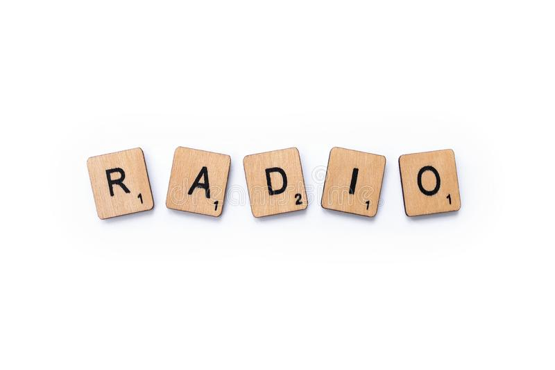 The word RADIO royalty free stock photos