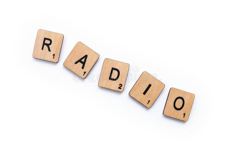 The word RADIO stock photography
