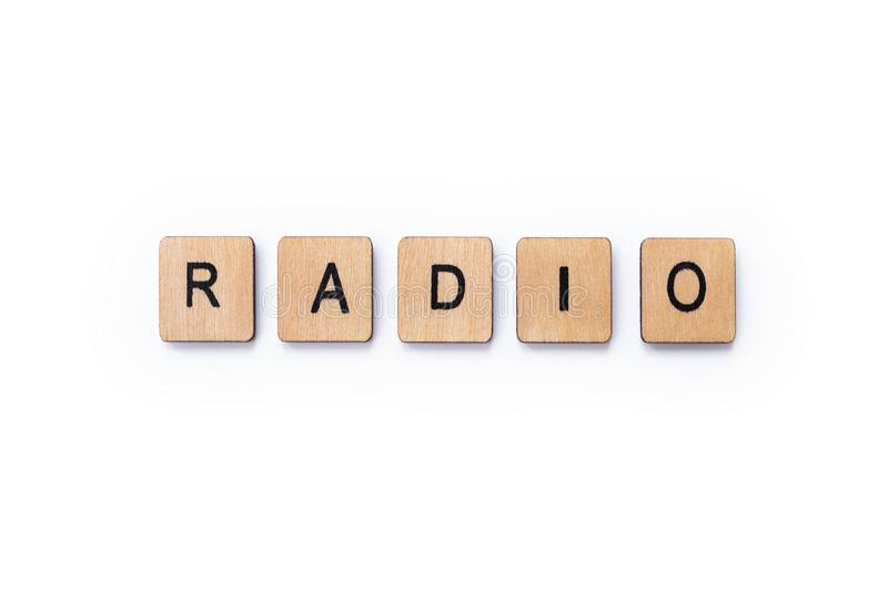 The word RADIO stock photo