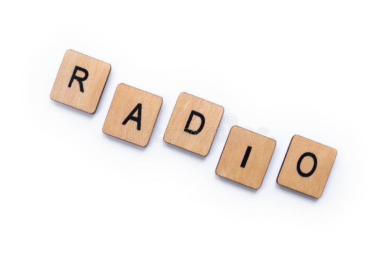 The word RADIO royalty free stock image