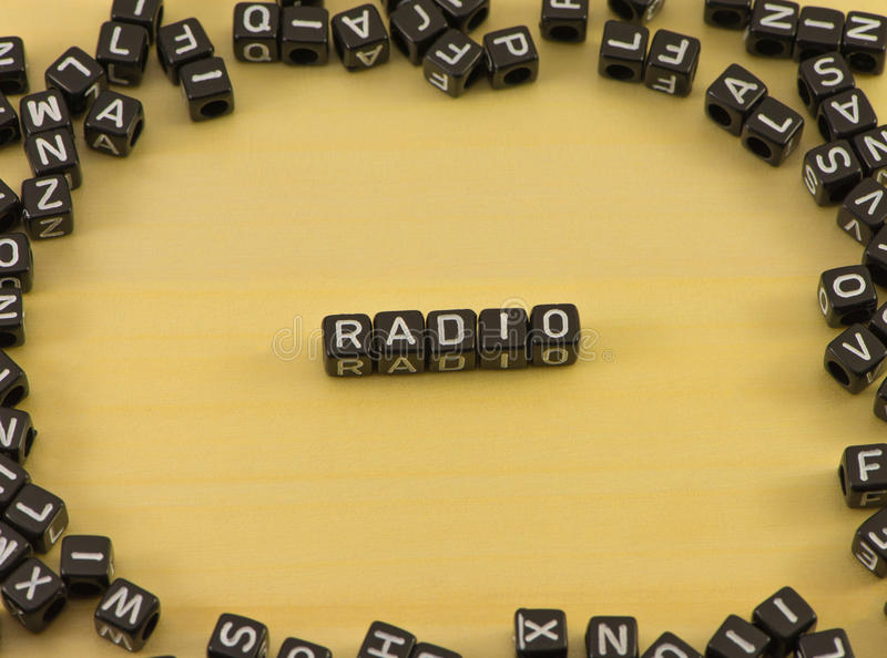 The word radio royalty free stock photo