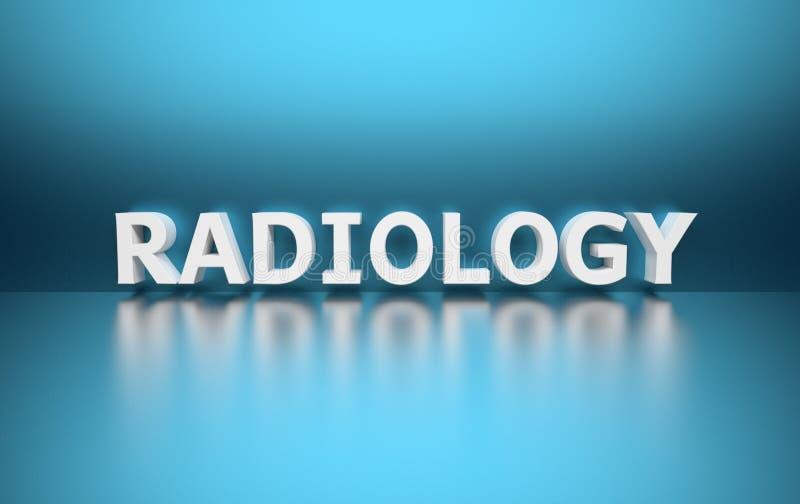 Word Radiologie stock illustratie