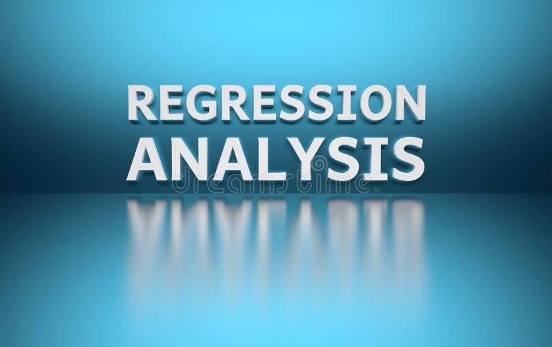 Word Regressieanalyse stock illustratie