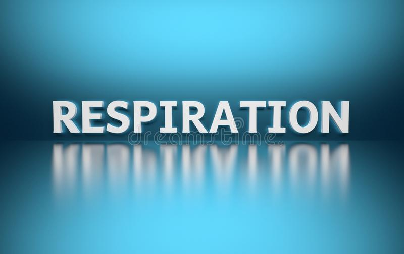 Word Respiration on blue background royalty free illustration