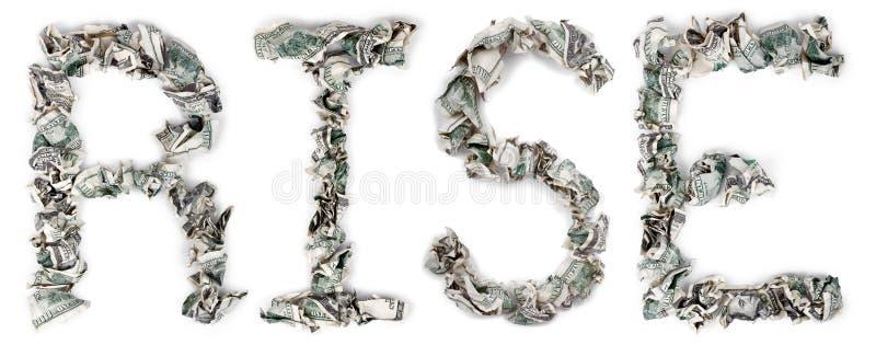 Download Rise - Crimped 100$ Bills stock image. Image of letter - 29770877