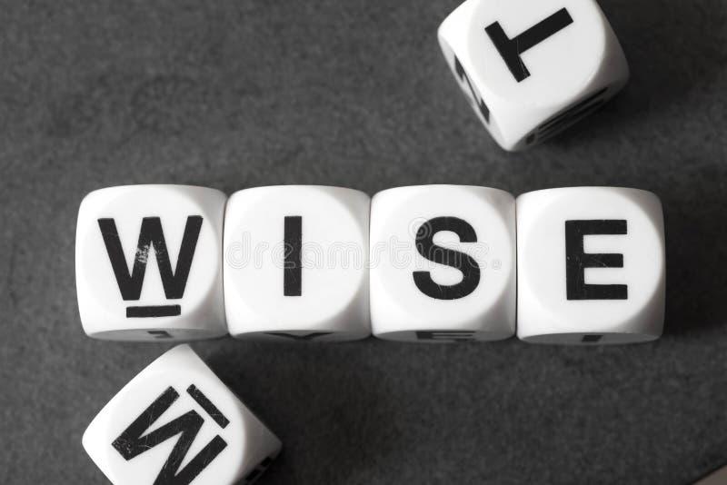 Word sage sur des cubes en jouet photographie stock