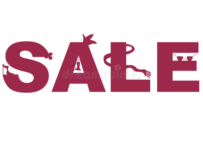 Word Sale spelling stock illustration