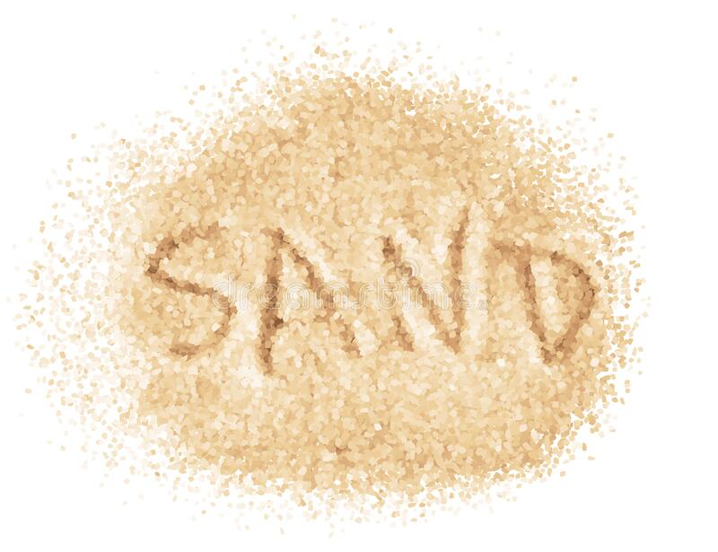 Word Sand written on sand. Vector image stock photography